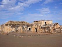 Ruin Village. On the island of Fuerteventura, Canary Island, Spain Royalty Free Stock Photo