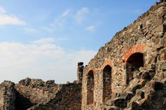 Visegrad castle, Hungary. Ruin Visegrad citadel castle in Hungary Royalty Free Stock Photography