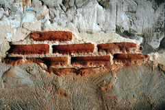 Ruin wall brick texture for background. Royalty Free Stock Photography