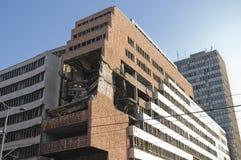 Ruin of war. Demolished building Royalty Free Stock Image