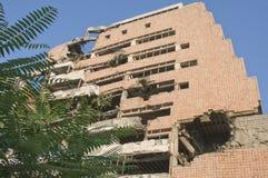 Ruin of war. Demolished building Royalty Free Stock Photos