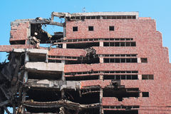 Ruin of war - demolished build. Bombed and abandoned city building. Architecture ruins and destruction Stock Photos