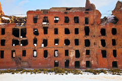 Ruin after war in Volgograd. The ruin after war in Volgograd Stock Image
