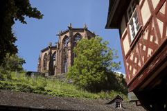 Ruin of Werner chapel. In Bacharach in the Middle Rhine Valley, Rhineland-Palatinate, Germany Royalty Free Stock Photos