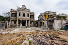 Ruin of western-style house Royalty Free Stock Photography
