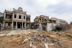 Ruin of western-style house Royalty Free Stock Image