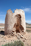 Ruin of a windmill in Fuerteventura Stock Image