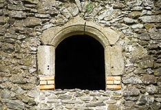 Ruin window with copy space Royalty Free Stock Photo