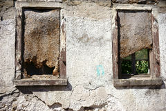 Ruin window Royalty Free Stock Images