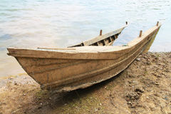 Ruin wooden boat sank Royalty Free Stock Images