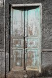 Ruin with wooden door Royalty Free Stock Image