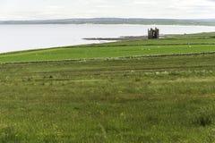 Ruina średniowieczny kasztel w Caithness obraz royalty free
