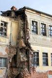 Ruina abandonada vieja de la casa Foto de archivo