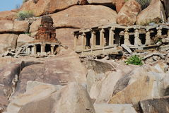 Ruina antigua de Hampi Fotos de archivo