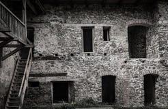 Ruina antigua del castillo fotografía de archivo