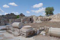 ruina antyczni salami słoneczny dzień Cypr obrazy stock