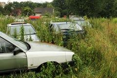 Ruina de coches viejos Imagen de archivo libre de regalías