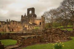Ruina de la abadía de Kirkstall Fotos de archivo libres de regalías