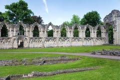 Ruina de la abadía del St Maria Imagen de archivo libre de regalías