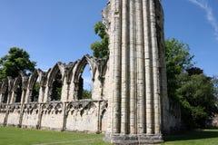 Ruina de la abadía del St Maria, York, Reino Unido Imágenes de archivo libres de regalías