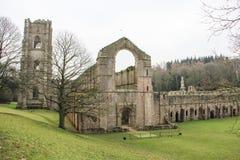 Ruina de la abadía de las fuentes, invierno 2018 Fotografía de archivo libre de regalías
