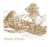 Ruina de la civilización antigua Machu Picchu ilustración del vector