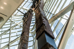 ruina de la columna del pilar de la torre gemela de 9 11 New York City destruida Imagen de archivo