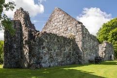 Ruina de la iglesia de Rya Imagen de archivo libre de regalías