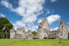 Ruina de la iglesia en Rya Imágenes de archivo libres de regalías