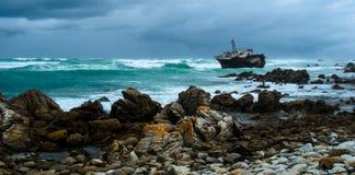 Ruina de la nave en Cabo Agulhas Fotos de archivo libres de regalías