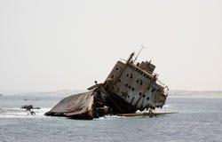 Ruina de la nave en el Mar Rojo foto de archivo libre de regalías