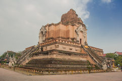 Ruina de la pagoda, Chiang Mai Imagen de archivo