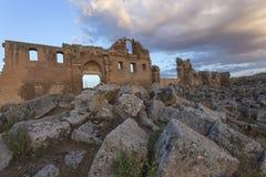 Ruina de la primera universidad en Turquía Imagenes de archivo