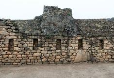 Ruina de las ventanas del inca foto de archivo