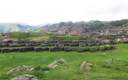 Ruina de Saksaywaman en Perú Foto de archivo