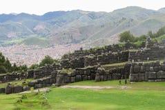 Ruina de Saksaywaman en Perú Fotografía de archivo