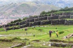 Ruina de Saksaywaman en Perú Imágenes de archivo libres de regalías