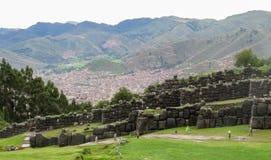 Ruina de Saksaywaman en Perú Foto de archivo libre de regalías
