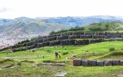 Ruina de Saksaywaman en Perú Imagen de archivo