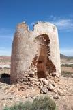 Ruina de un molino de viento en Fuerteventura Imagen de archivo