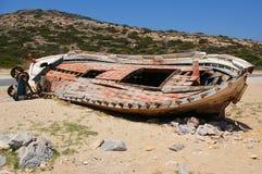 Ruina del barco Fotografía de archivo