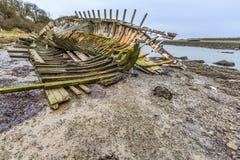 Ruina del barco de Dulas imagenes de archivo