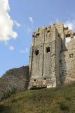 Ruina del castillo de Corfe imagen de archivo