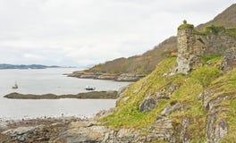 Ruina del castillo de Strome. Fotografía de archivo
