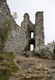 Ruina del castillo gótico Fotografía de archivo