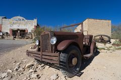 Ruina del coche en Terlingua Tejas los E.E.U.U. Foto de archivo