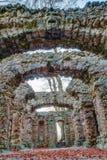 Ruina del teatro de la roca Fotos de archivo