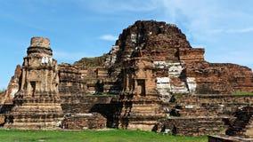 Ruina del templo de Ayutthaya Imágenes de archivo libres de regalías