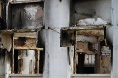 Ruina después de la quemadura Foto de archivo libre de regalías