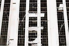 Ruina destrozada Demolished filtrada de la industria afuera Fotografía de archivo libre de regalías